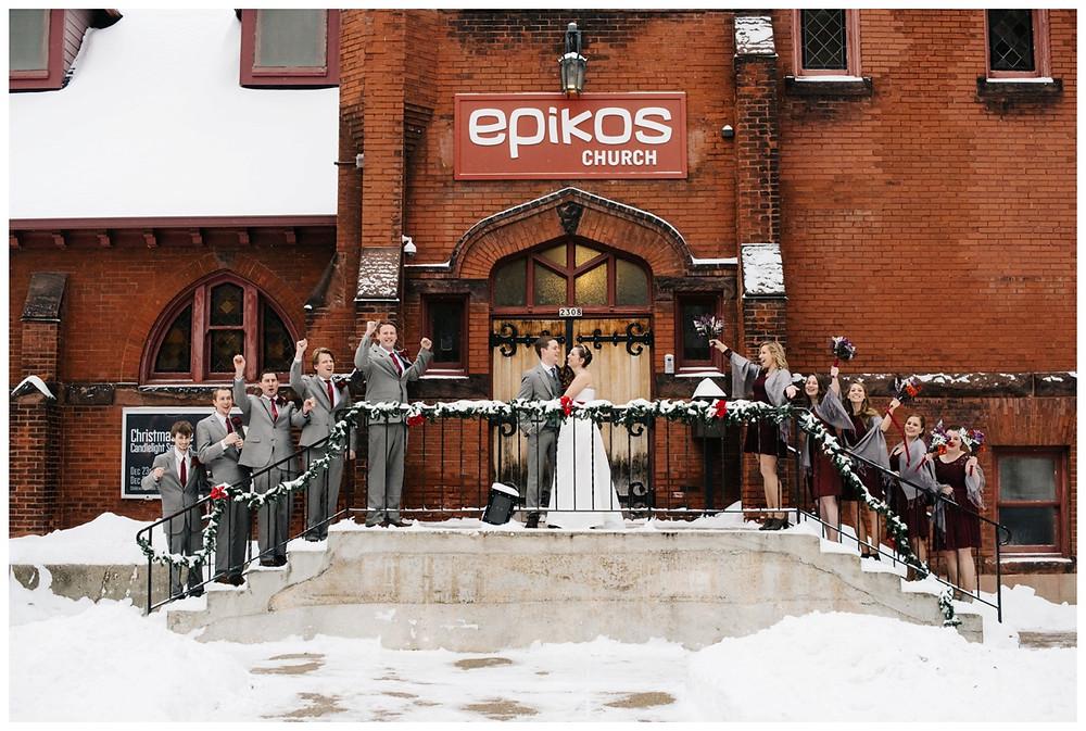 wedding-party-celebrating-at-milwaukee-wedding-by-green-bay-wedding-photographer-kyra-rane-photographer