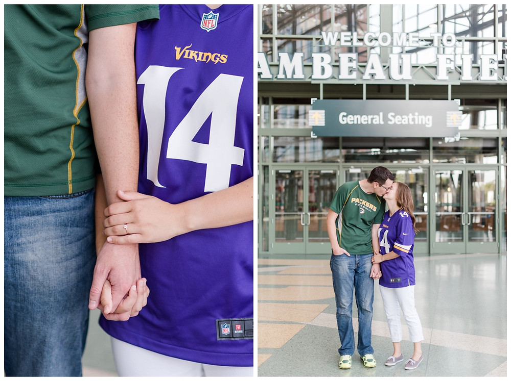 engaged-couple-kissing-in-atrium-at-downtown-green-bay-engagement-session-by-appleton-wedding-photographer-kyra-rane-photography