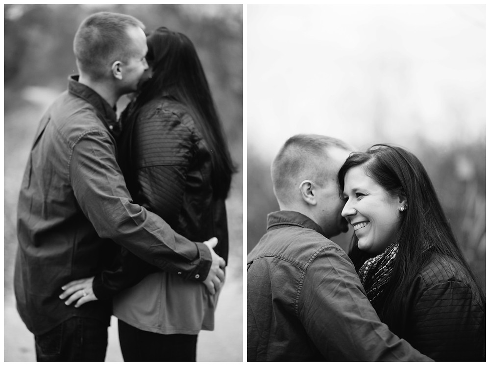 engaged-couple-arms-around-each-other-at-green-bay-engagement-session-by-appleton-wedding-photographer-kyra-rane-photography