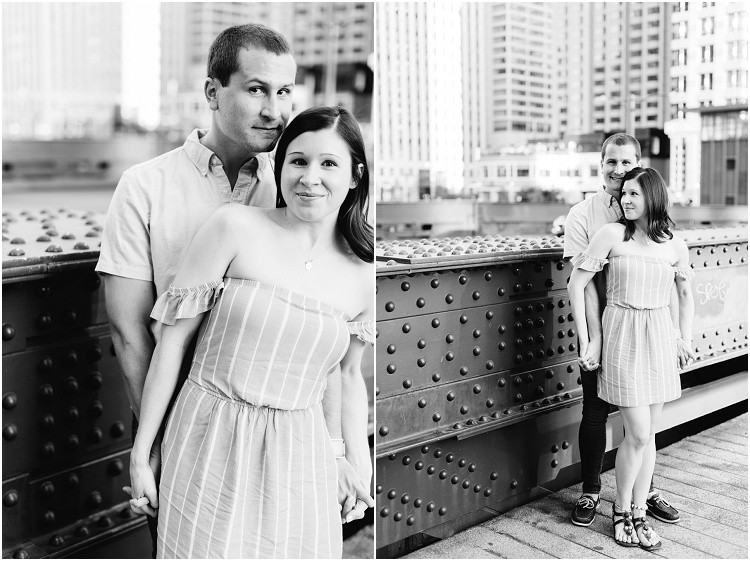 husband-and-wife-holding-hands-on-walking-bridge-at-downtown-chicago-anniversary-session-by-appleton-wedding-photographer-kyra-rane-photography