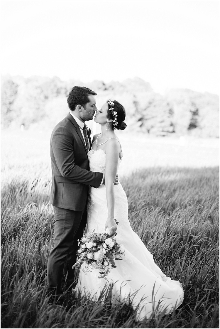 wedding-couple-about-to-kiss-in-field-at-barnsite-retreat-and-events-wedding-by-appleton-wedding-photographer-kyra-rane-photography