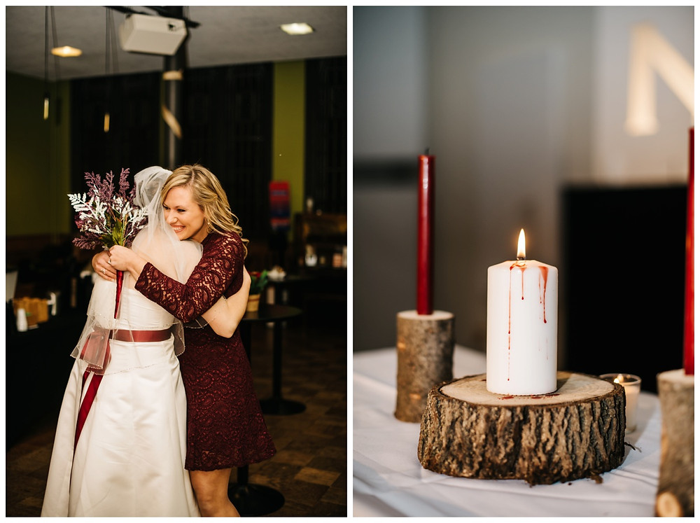 bridesmaid-hugging-bride-at-milwaukee-wedding-by-green-bay-wedding-photographer-kyra-rane-photographer