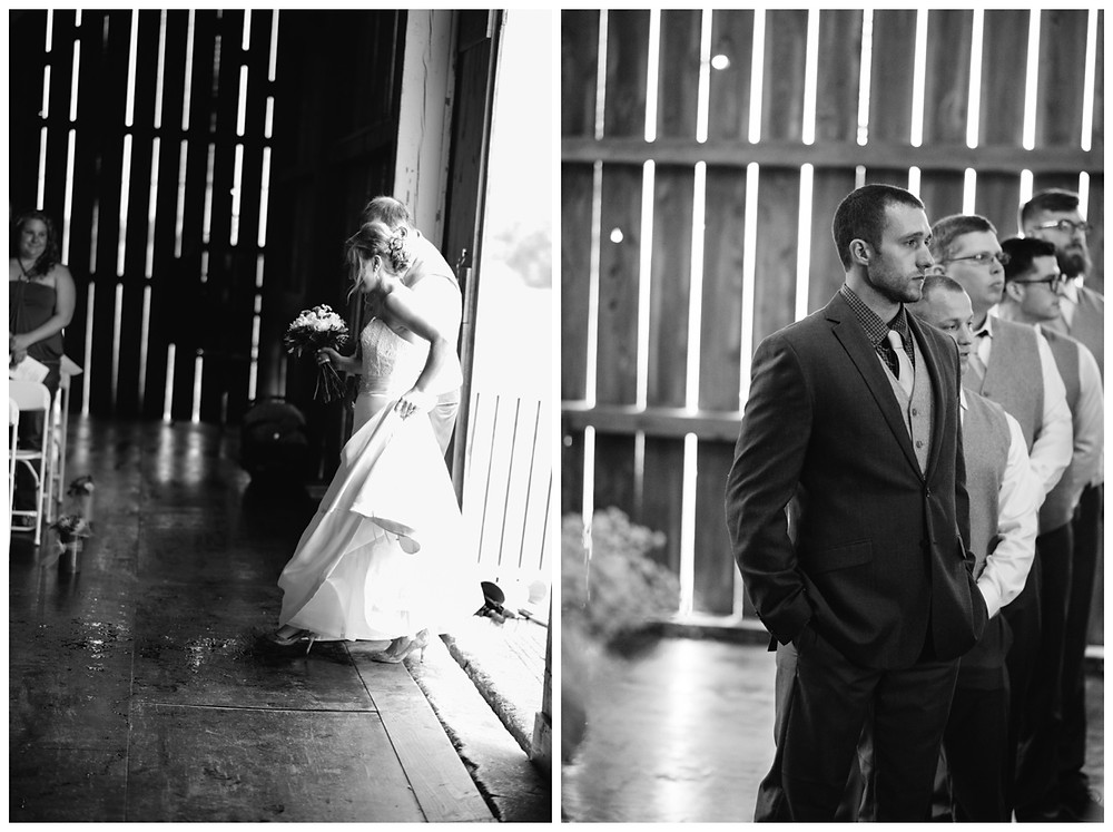bride-walking-down-aisle-at-brighton-acres-wedding-by-green-bay-wedding-photographer-kyra-rane-photography