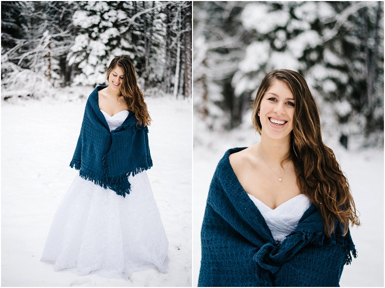 winter-bride-smiling-at-camera-with-shawl-around-shoulders--at-wisconsin-winter-bridal-portraits-by-appleton-wedding-photographer-kyra-rane-photography