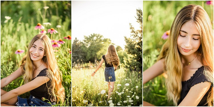 senior-sitting-by-flowers-at-senior-session-at-plamann-park-by-milwaukee-wedding-photographer-kyra-rane-photography