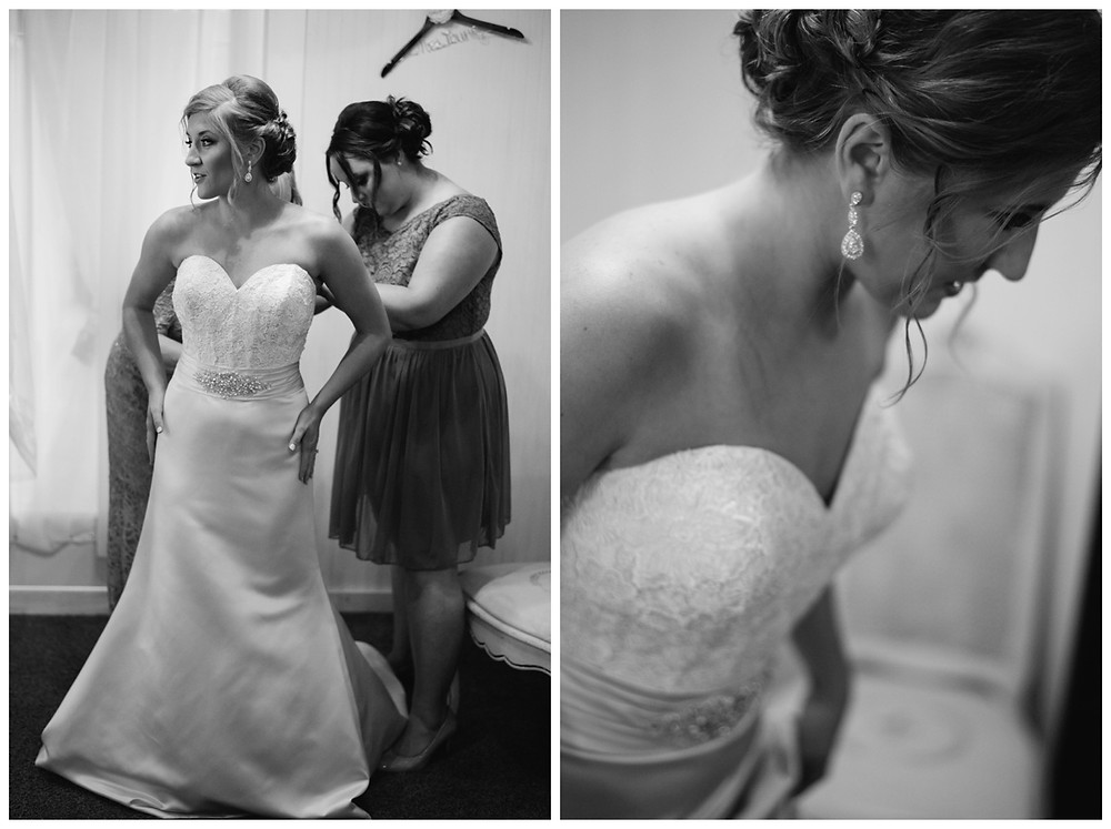bride-putting-on-wedding-dress-at-brighton-acres-wedding-by-milwaukee-wedding-photographer-kyra-rane-photography