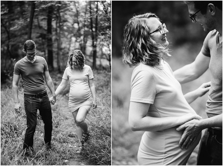 couple-laughing-with-hands-on-baby-bump-at-plamann-park-maternity-session-by-appleton-wedding-photographer-kyra-rane-photography
