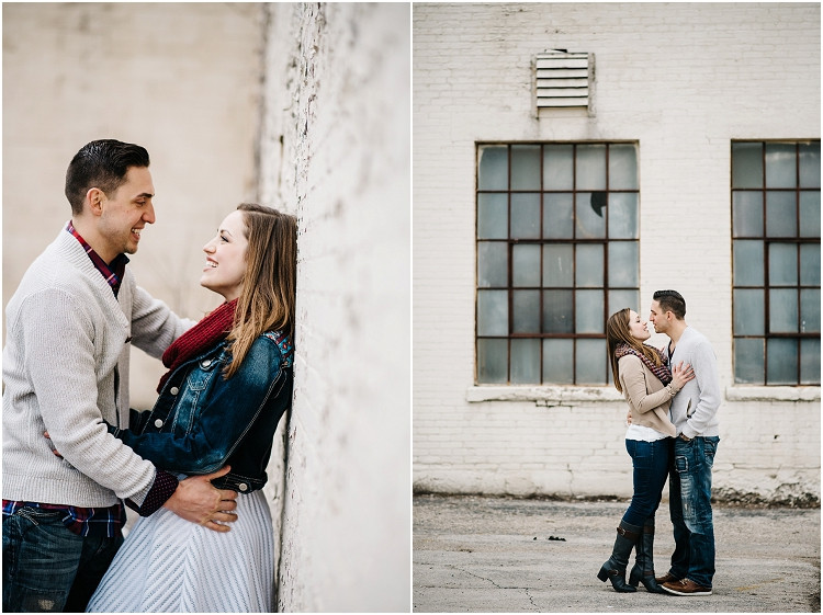 engaged-couple-about-to-kiss-at-appleton-engagement-session-by-green-bay-wedding-photographer-kyra-rane-photography
