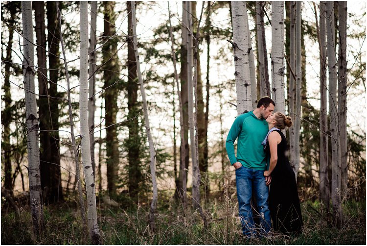engaged-couple-kissing-at-sunset-at-hortonville-engagement-session-by-appleton-wedding-photographer-kyra-rane-photography