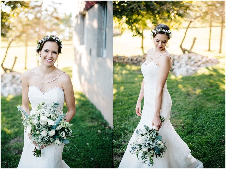 bride-with-white-rose-wedding-bouquet-at-barnsite-retreat-and-events-wedding-by-milwaukee-wedding-photographer-kyra-rane-photography