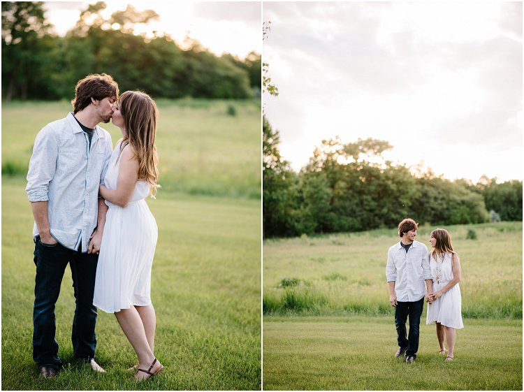 engaged-couple-walking-at-sunset-at-homestead-meadows-styled-shoot-by-appleton-wedding-photographer-kyra-rane-photography