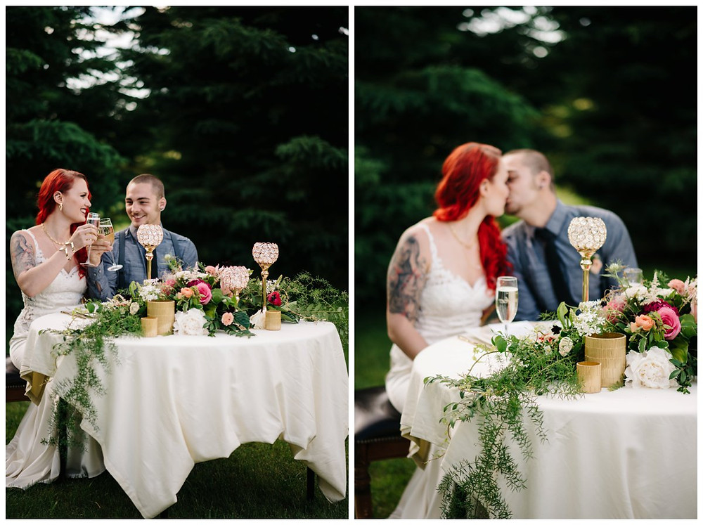 wedding-couple-making-toast-at-homestead-meadows-styled-shoot-by-appleton-wedding-photographer-kyra-rane-photography