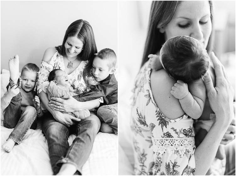 mom-laughing-with-sons-at-cozy-newborn-session-by-green-bay-wedding-photographer-kyra-rane-photography