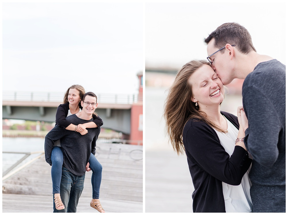 engaged-couple-piggy-back-ride-at-downtown-green-bay-engagement-session-by-appleton-wedding-photographer-kyra-rane-photography