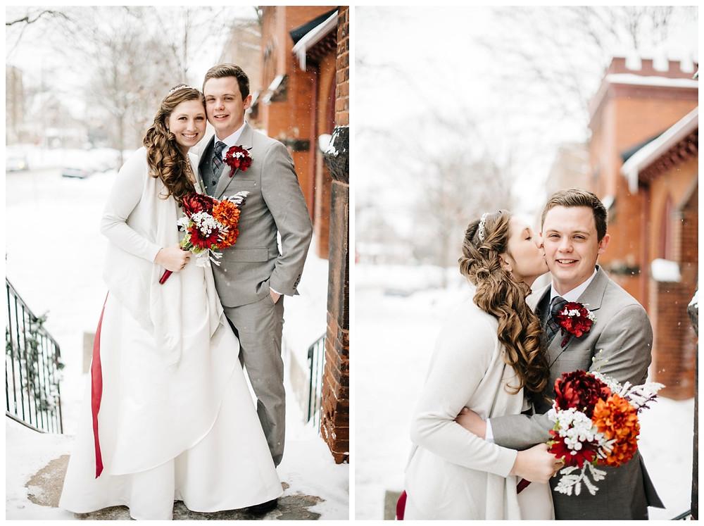 bride-kissing-groom-on-cheek-at-milwaukee-wedding-by-milwaukee-wedding-photographer-kyra-rane-photographer