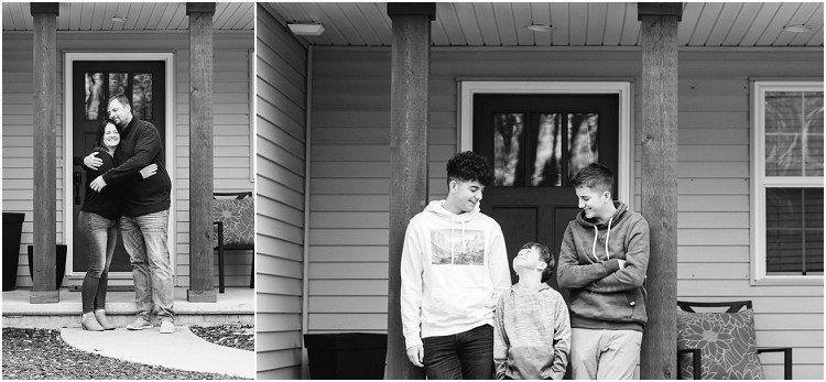 brothers-on-front-porch-laughing-at-the-front-porch-series-by-green-bay-wedding-photographer-kyra-rane-photography
