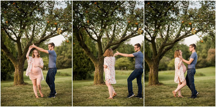 expecting-couple-dancing-under-tree-at-plamann-park-maternity-session-by-milwaukee-wedding-photographer-kyra-rane-photography