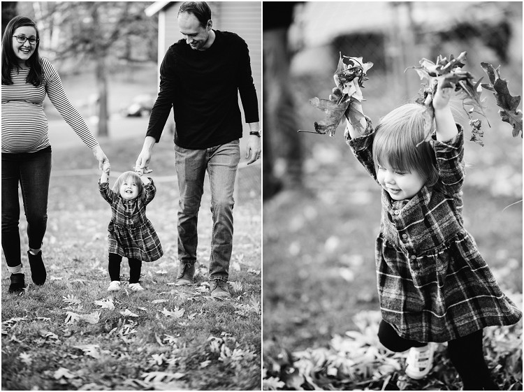 family-walking-up-hill-holding-hands-at-backyard-family-session-by-green-bay-wedding-photographer-kyra-rane-photography