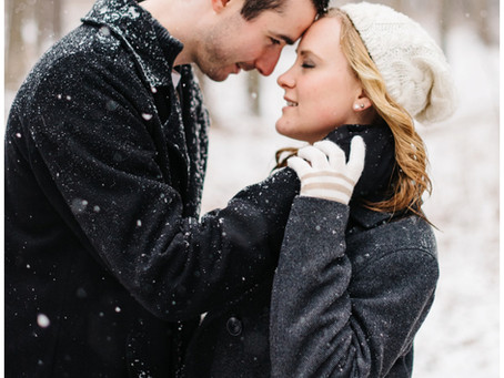 Tyler + Kate | Snowy Sheboygan Engagement Session