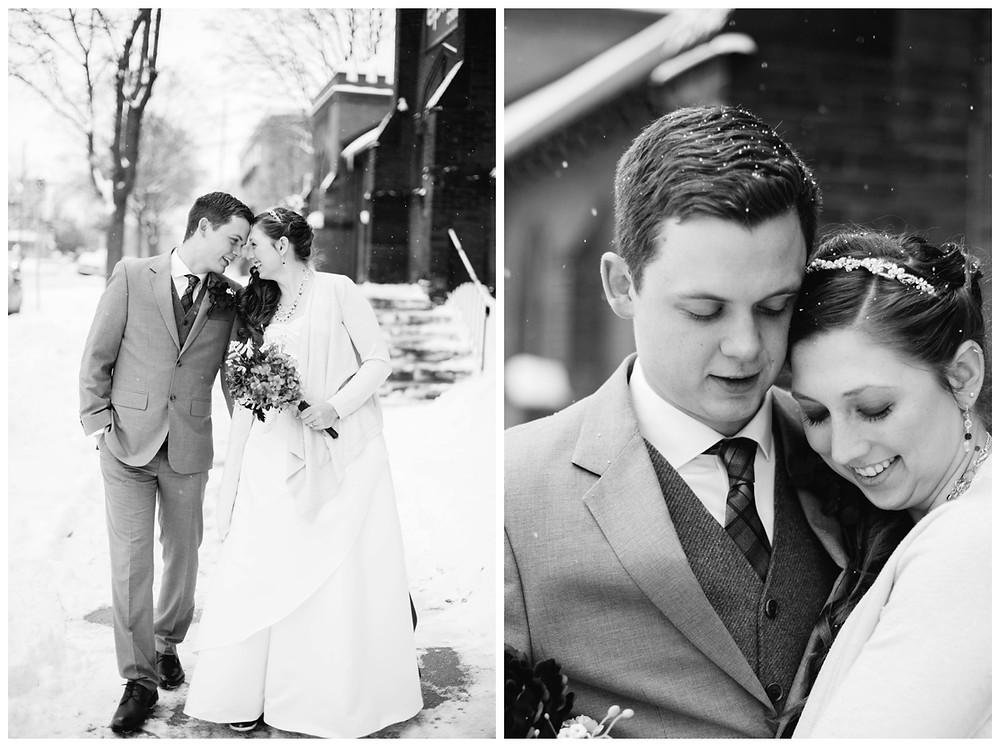 wedding-couple-snuggle-in-snow-at-milwaukee-wedding-by-green-bay-wedding-photographer-kyra-rane-photographer