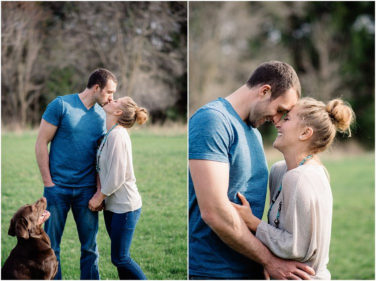 engaged-couple-holding-each-other-and-laughing-at-hortonville-engagement-session-by-green-bay-wedding-photographer-kyra-rane-photography