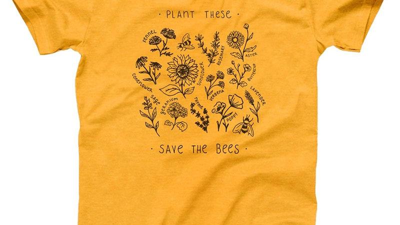 Save the Bees Sunflower T-Shirt Women