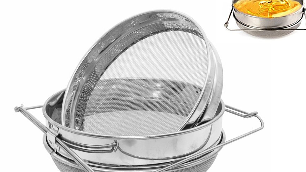 Stainless Steel Double-Layer Honey Sieve