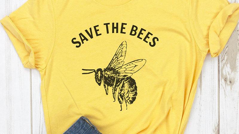 Save the Bees Shirt Crewneck T Shirt Women
