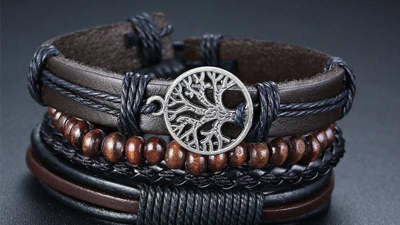 Braided Wrap Leather Bracelets