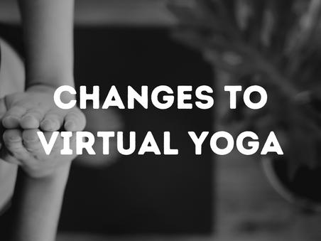 Live Virtual Classes Changes