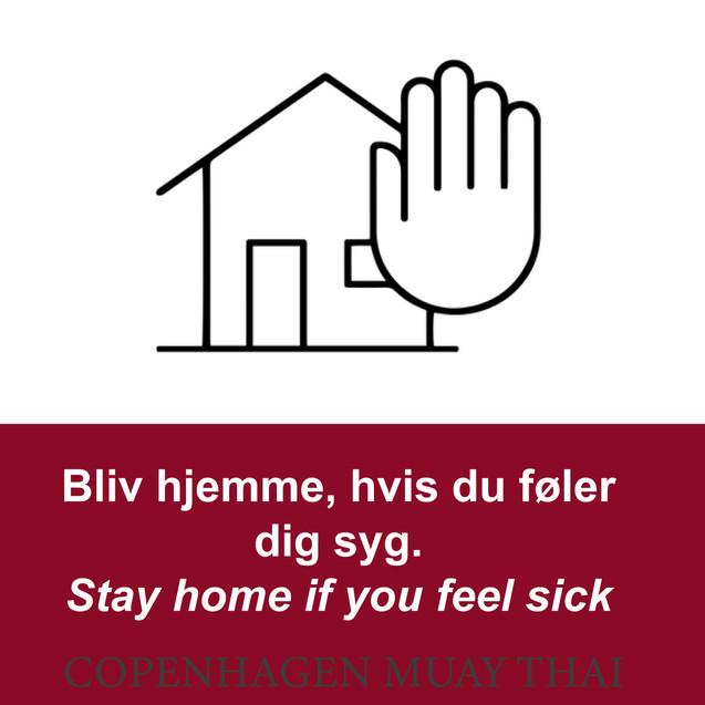 Kom ikke, hvis du er syg