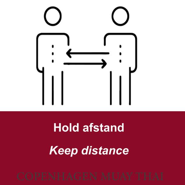 Overhold afstandsreglerne