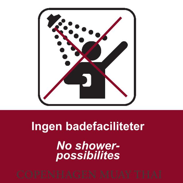 Ingen badefaciliteter