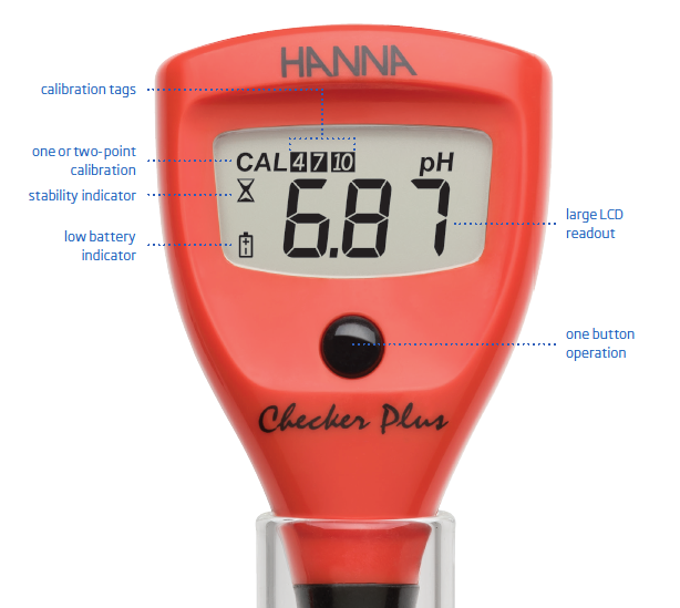 Combo pH Meter and Thermometer