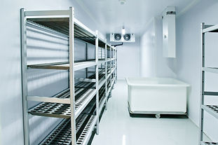 Refrigerating chamber in the store. Refr