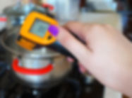 Kitchen measuring infrared thermometer.
