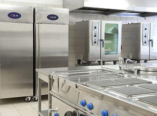 Empty restaurant kitchen with profession