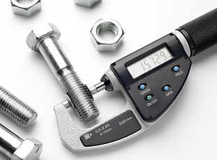 Measurement of details in the bolts and
