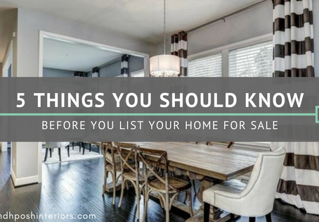 5 Things You Should Know Before Listing Your Home For Sale