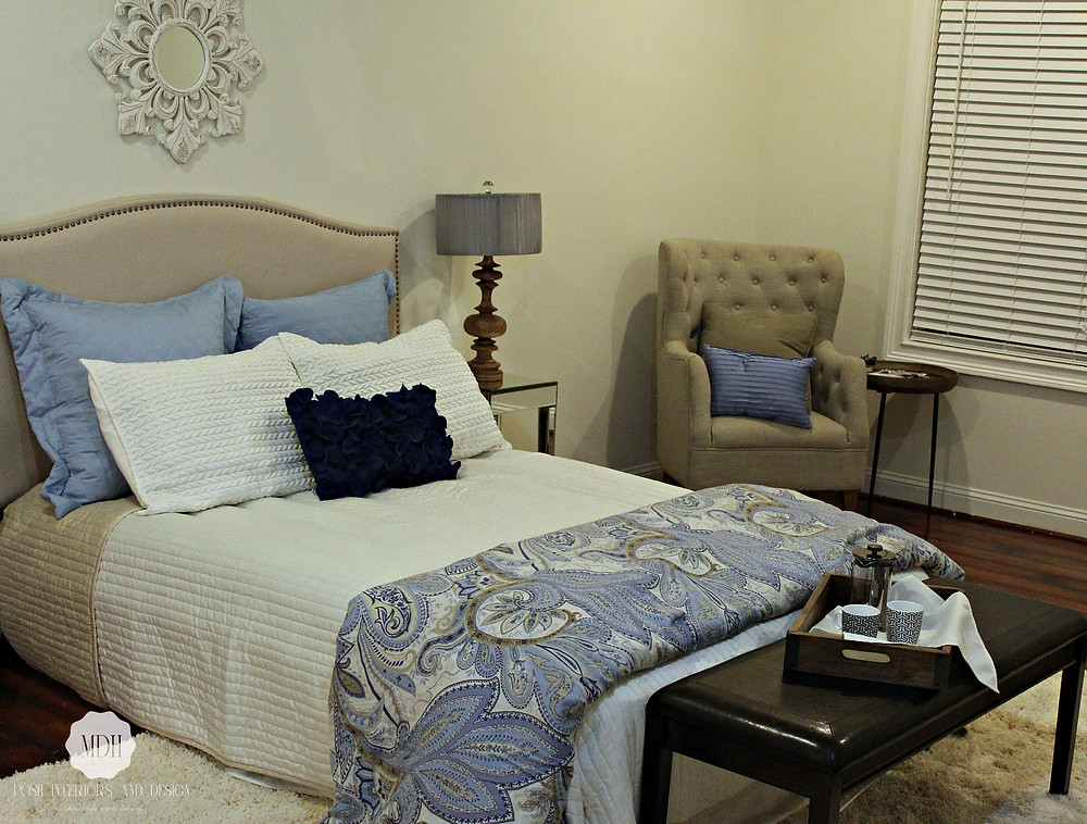 Master Bedroom After Staging by MDH Posh Interiors and Design