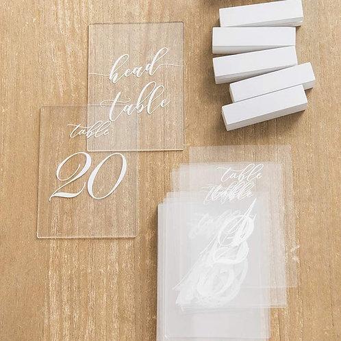 Acrylic Calligraphy Table Numbers