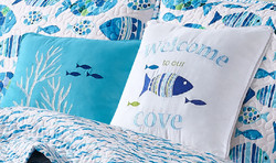 Welcome Cove dec pillows