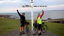 Lands End to John o' Groats on a bike and the London Marathon just 2 weeks later!