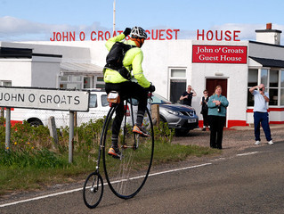 Lands End to John o' Groats on a Penny-farthing.