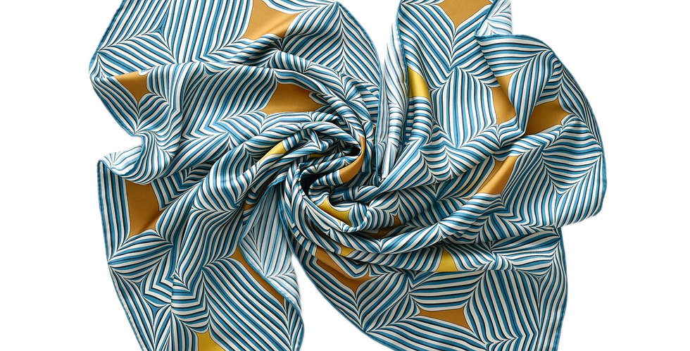Nevi Silk Scarf in Blue