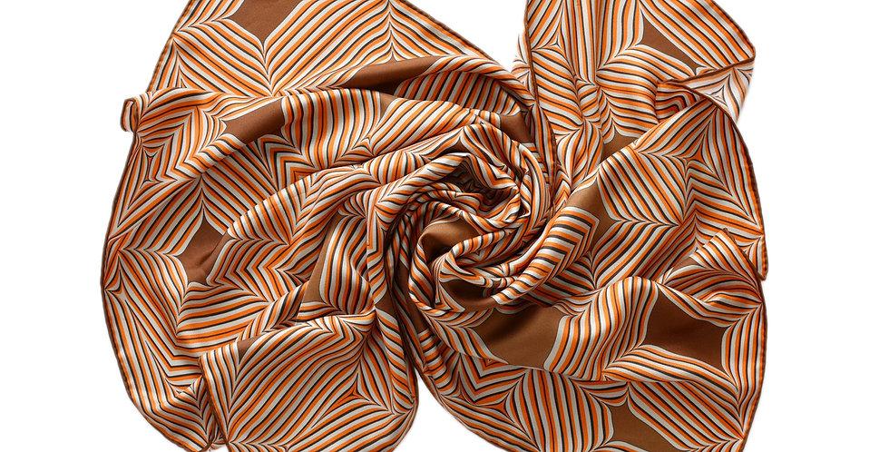 Nevi Silk Scarf in Brown