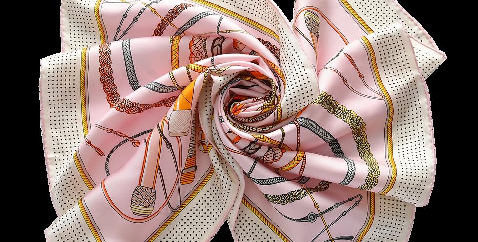 Marrakesh Silk Scarf in Pink