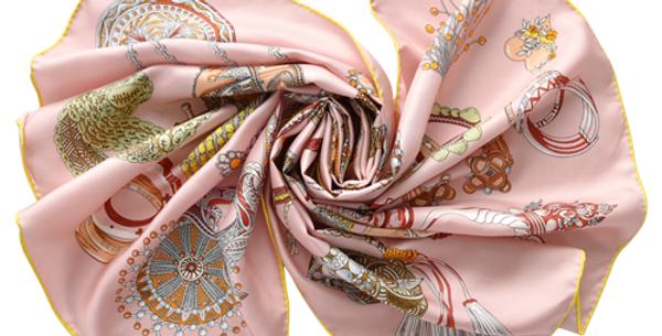 Vatican Silk Scarf in Pink