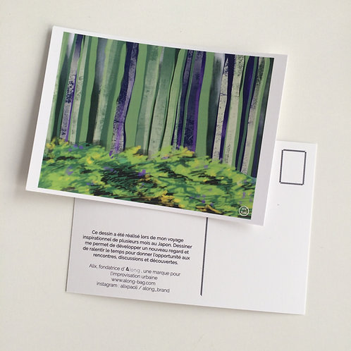 Carte Postale Japon - Forêt
