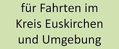 Fahrten im Kreis Euskirchen und Umgebung